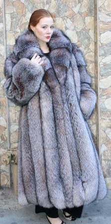 indigo fox fur coat - Google Search | Incredible Indigo Fox Furs