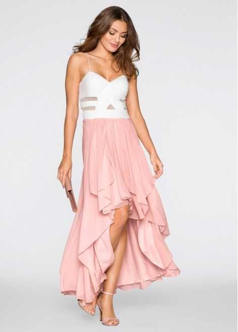 Zauberhaftes Vokuhila-Kleid mit halbtransparenten Cut-Outs | Das ...