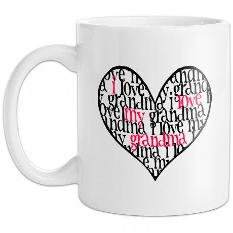 Personalised I Love My Grandma Mug