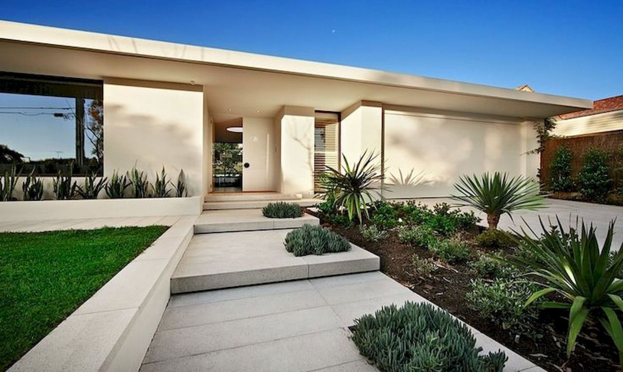 simple clean modern front yard landscaping ideas 63 on modern front yard landscaping ideas id=82411