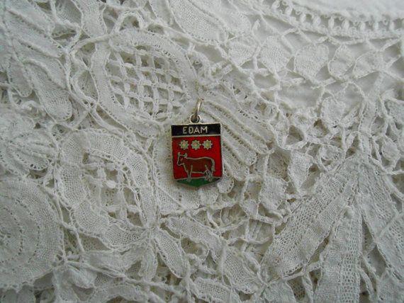 Dutch souvenir charm edam 1930's enamel by Nkempantiques on Etsy, €3.00