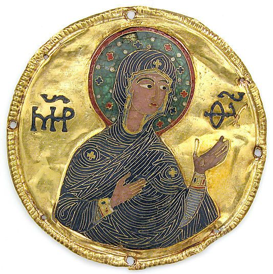 Medallion with the Virgin from an Icon ca 1100 Byzantine