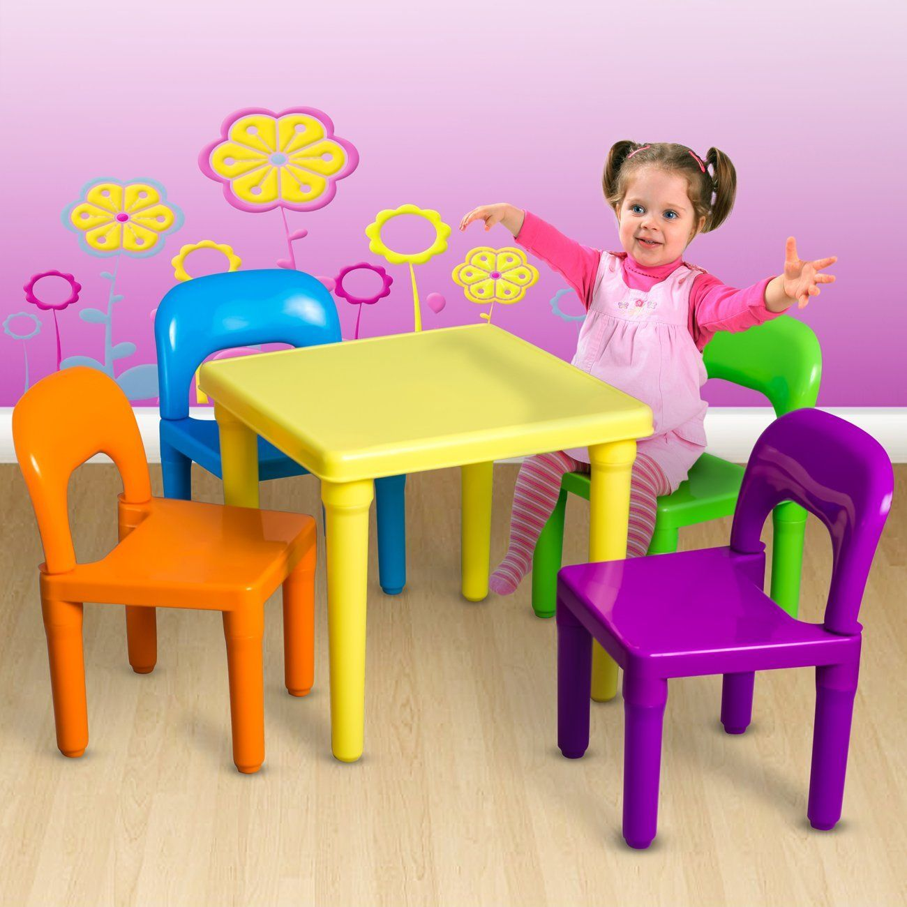 Plastic Table And Chairs For Kids Amazon Com Oxgord Kids Table And Chairs Kids Table Set Kids Chairs
