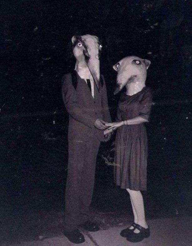 Lovely 1800s Halloween   Creepy Costumes: More Old Time Scary Halloween Part 4