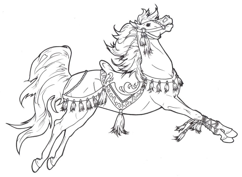 holiday horse coloring pages - photo#11