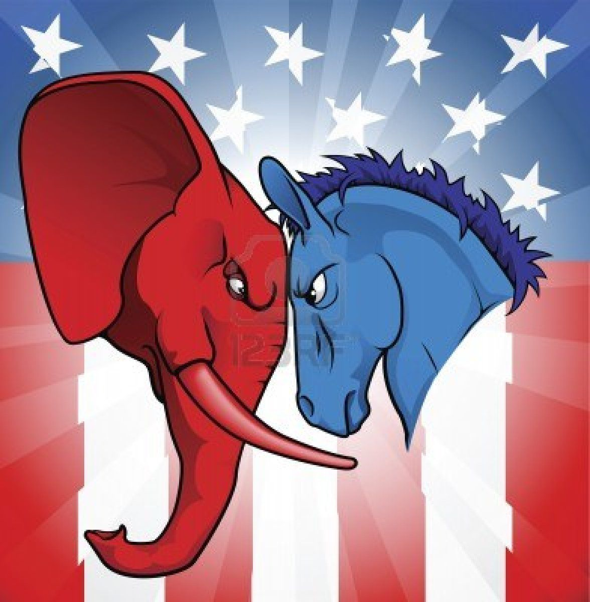 What is the difference between a democrat and a republican buy american politics by krisdog on graphicriver the democrat and republican symbols of a donkey and elephant facing off buycottarizona