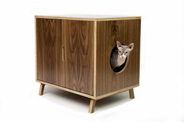 10 Buys For The Modern Cat Modern Cat Furniture Modern Pet Furniture Cat Litter Box Furniture