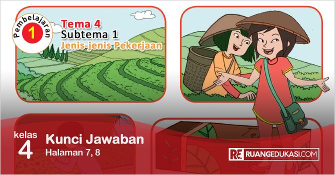 Kunci Jawaban Buku Tematik Kelas 4 Tema 4 Berbagai Pekerjaan Kurikulum 2013 Buku Kurikulum Buku Pelajaran