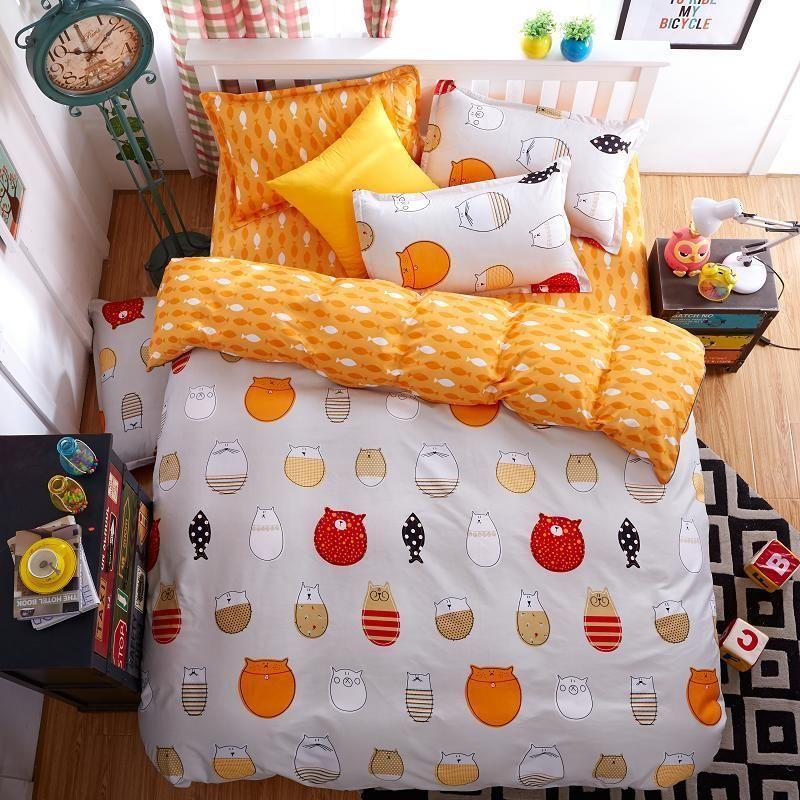 Single Doppel Queen King Size Bett Set Kissenbezug Bettbezug