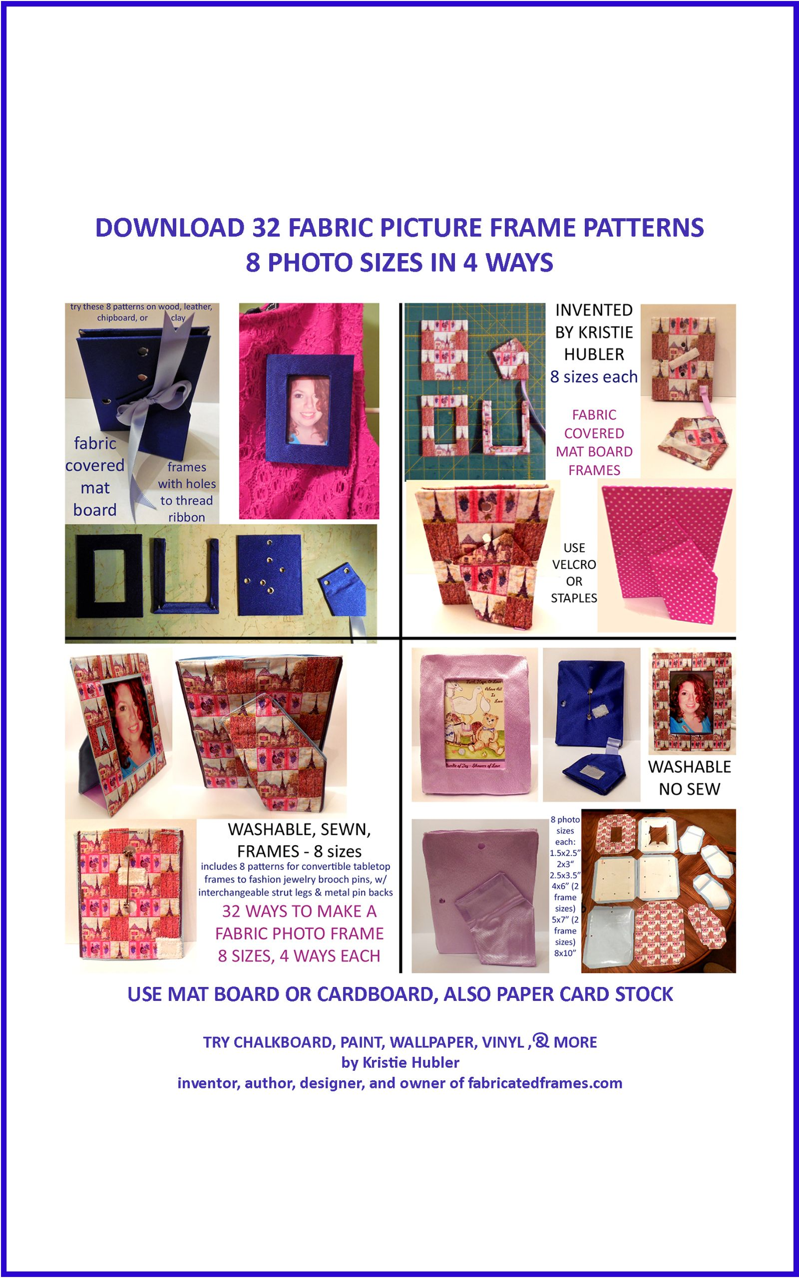 Ebook Download 32 Picture Frame Patterns 8 Photo Sizes In 4 Ways Each Vinyl Paper Frame Crafts Diy Photo Frames
