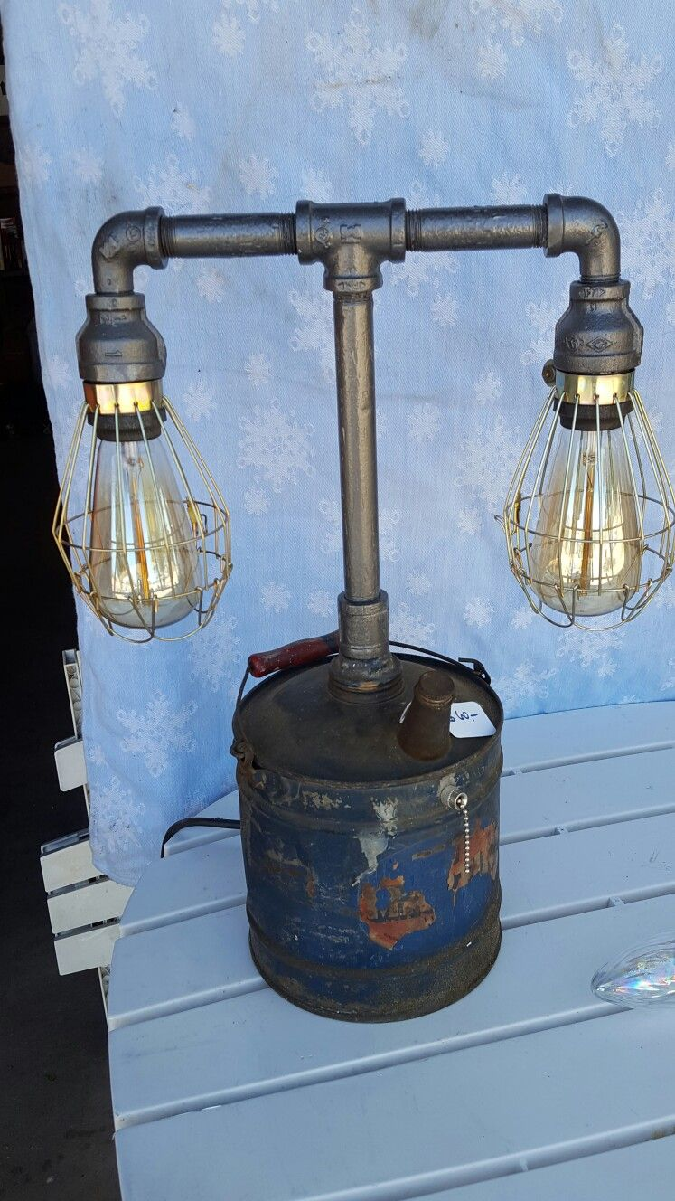 Oil can lamp | Novelty lamp, Industrial lamp