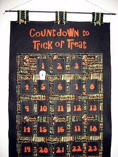 Everyday Celebrations: Counting Down the Days. So cute! Especially the ghost!