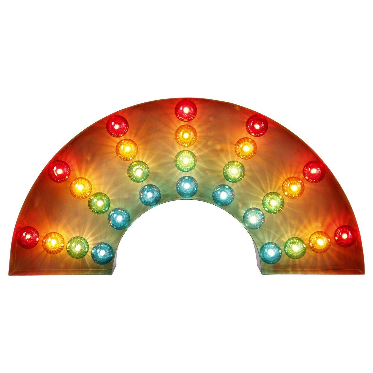 Debenhams Rainbow Marquee Metal Wall Light If I Had A