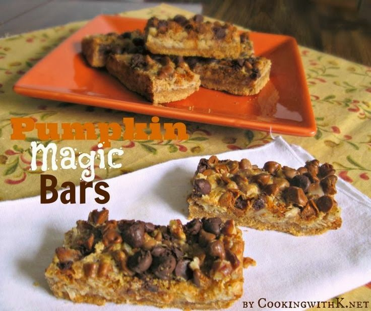 Cooking with K// Pumpkin Magic Bars {Easy and Quick!  Using Betty Crocker Pumpkin Spice Cookie Mix}