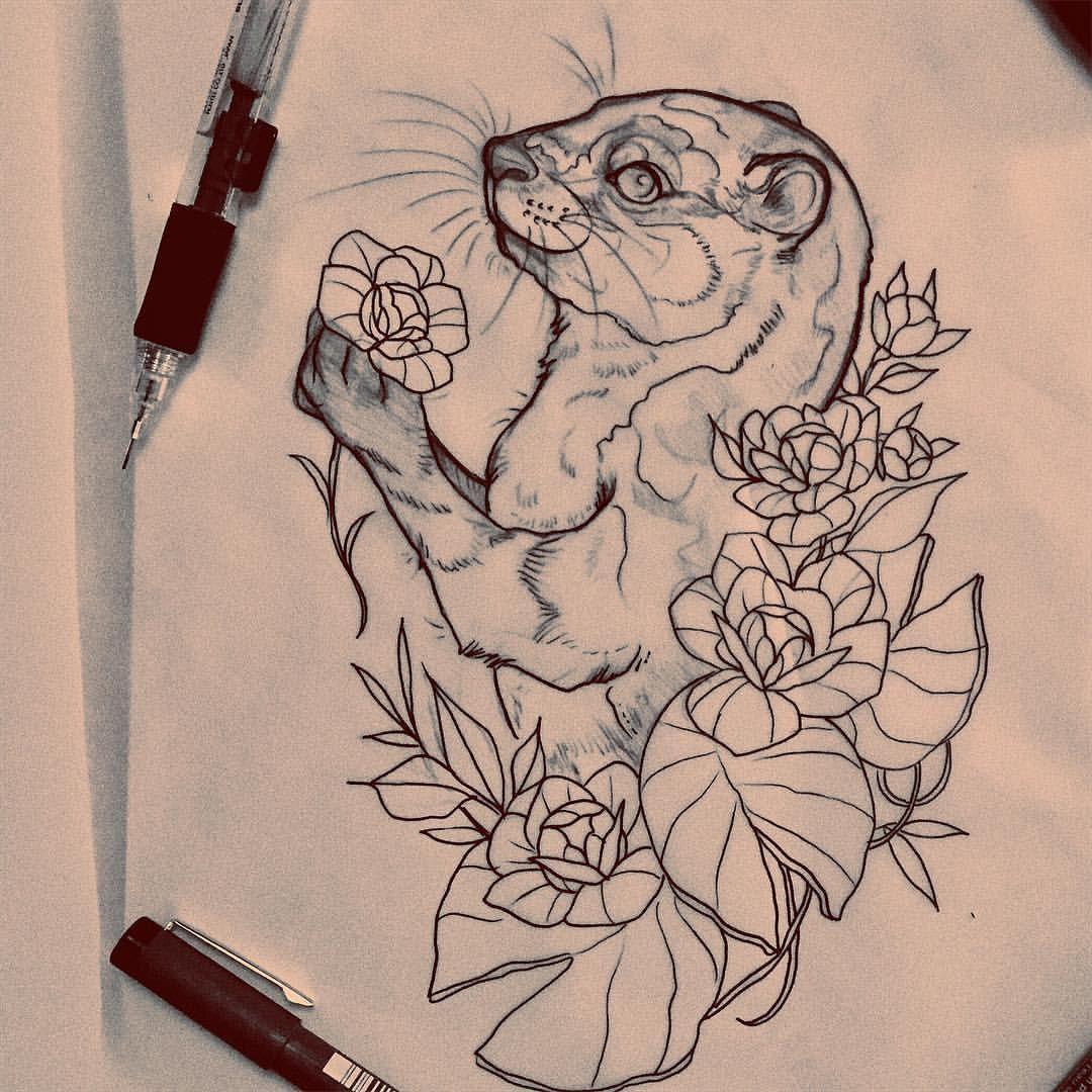 Otter Tattoo Otter Tattoo Animal Tattoos Tattoos