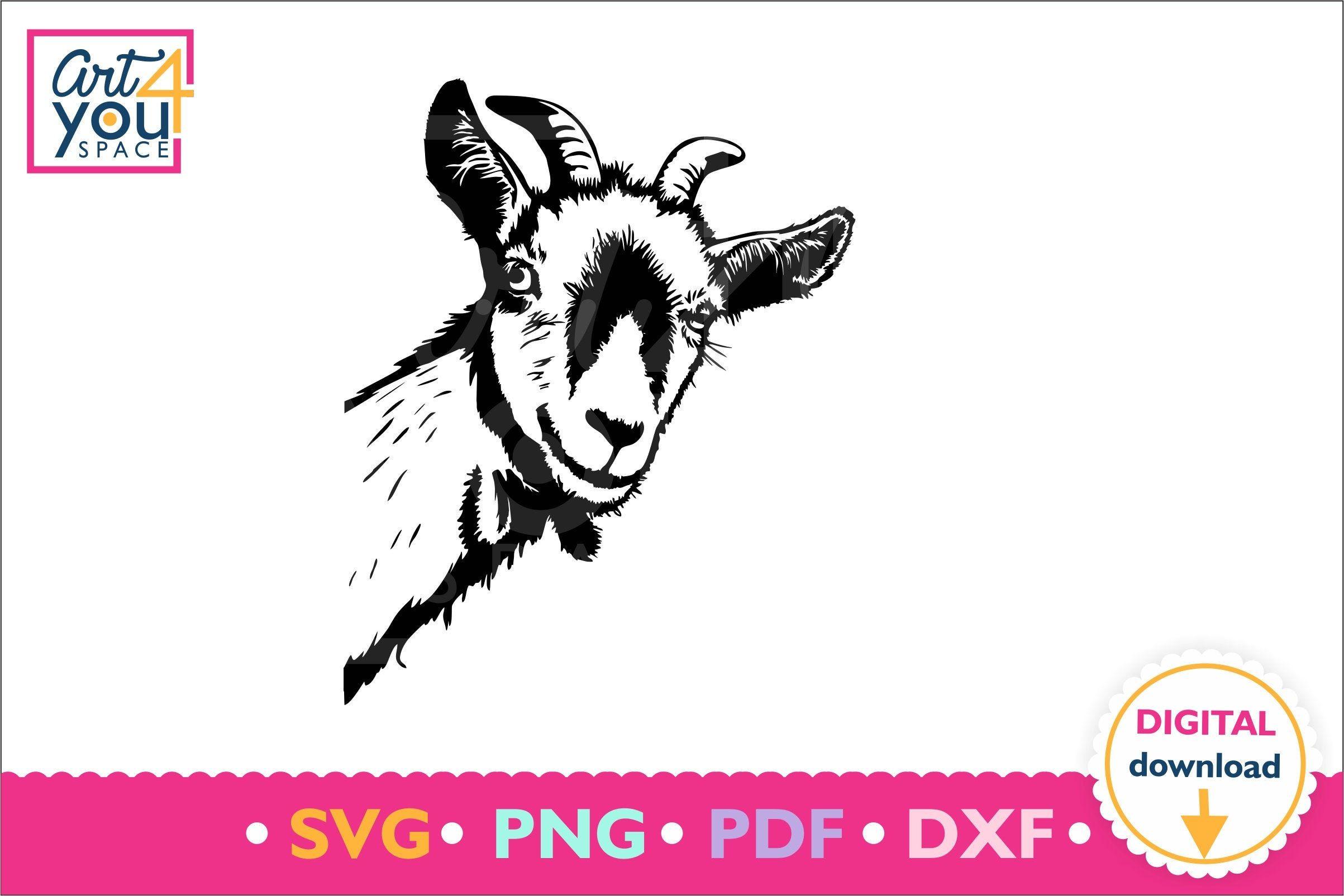 Download Peeking Goat head svg cricut, curious dairy goat, face ...