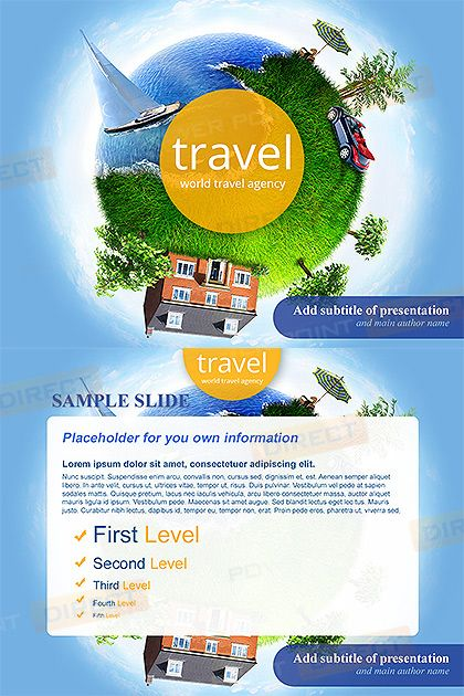 World Travel Agency Free Powerpoint Template Free Powerpoint