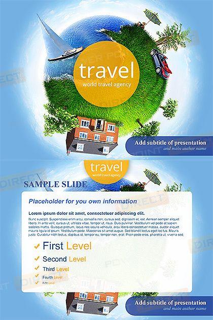 World travel agency free powerpoint template free powerpoint world travel agency free powerpoint template toneelgroepblik Gallery