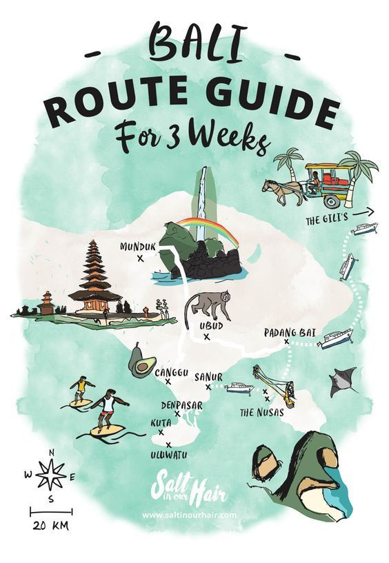 BALI ROUTE GUIDE   Ultimate 3-week guide on what to do in Bali