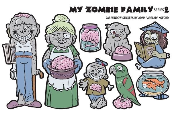Bwhahahah - Zombie Family Vehicle Stickers