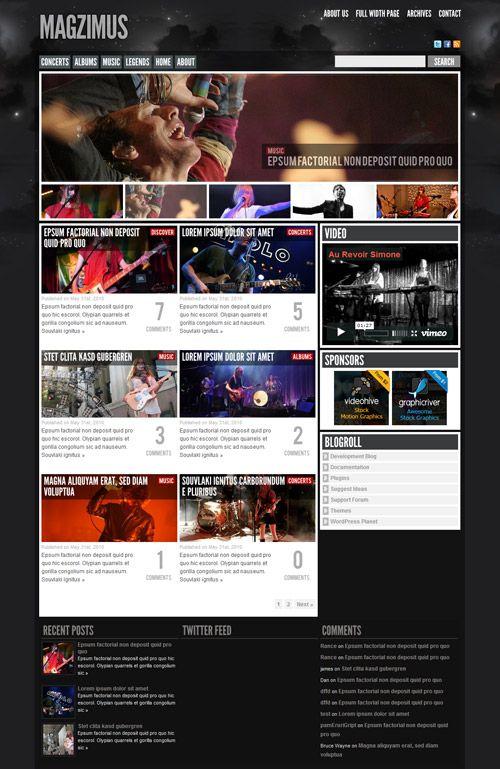 Magzimus magazine WordPress Theme Free Download by ThemeForest ...