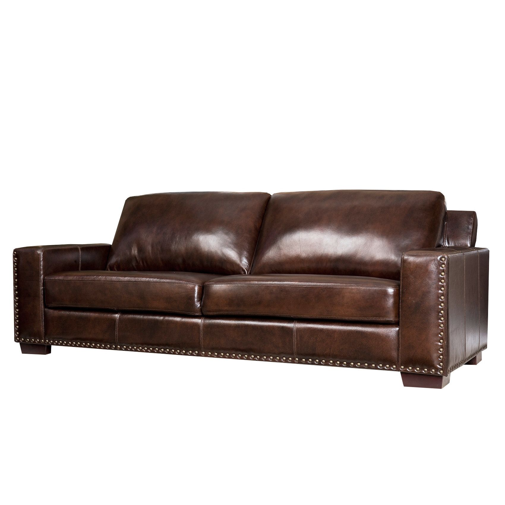 """Beverly 90"""" Leather Sofa Leather sofa, Top grain leather"""