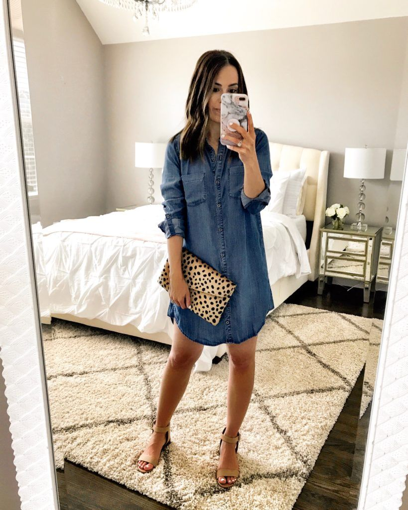Instagram Lately Mrscasual Denim Dress Outfit Chambray Dress Outfit Summer Dress Outfits [ 1024 x 819 Pixel ]