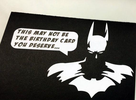 Handmade Batman Birthday Card by ABNormalCards on Etsy – Batman Birthday Cards