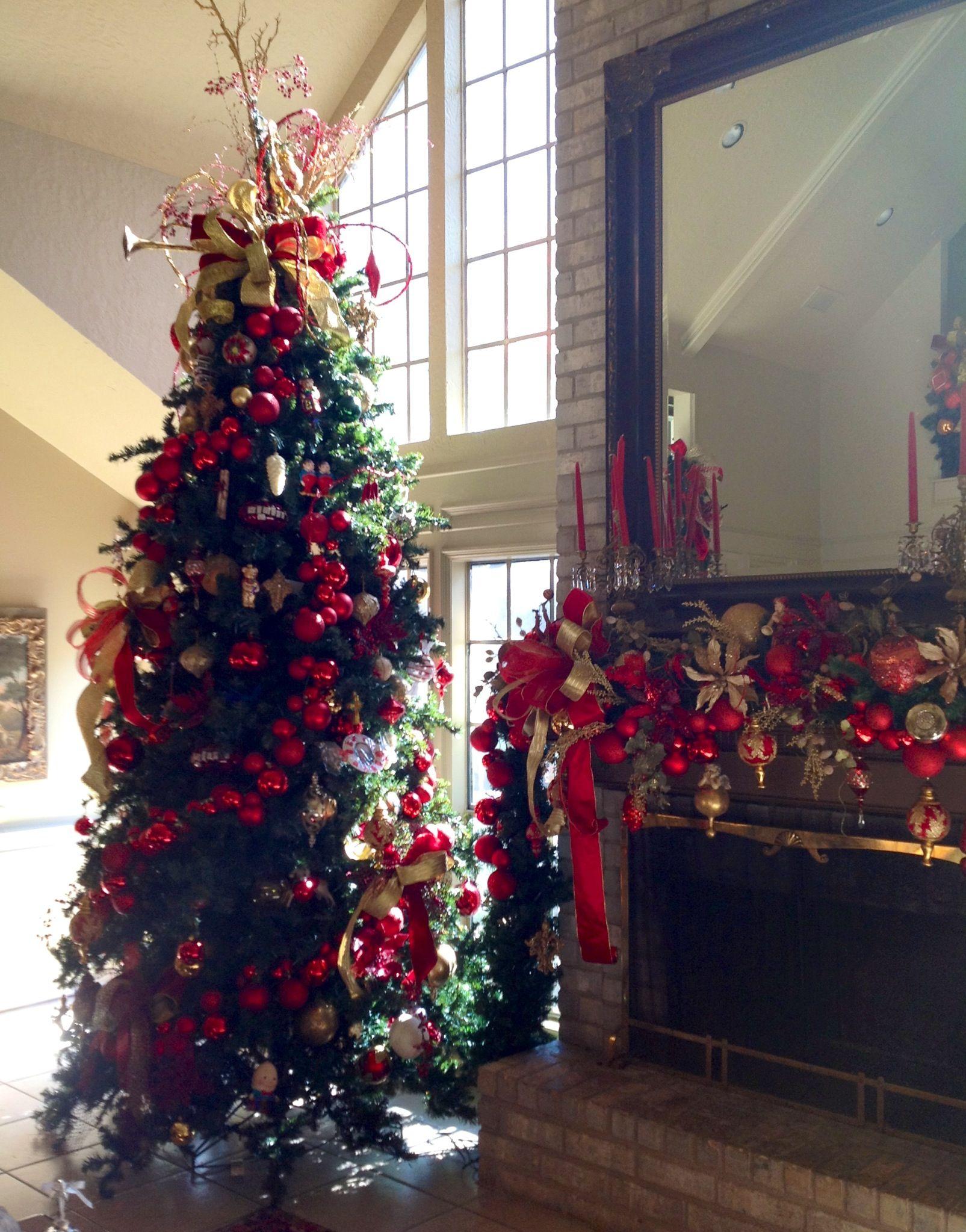 Christmas Tree & Mantel | christmas time | Pinterest