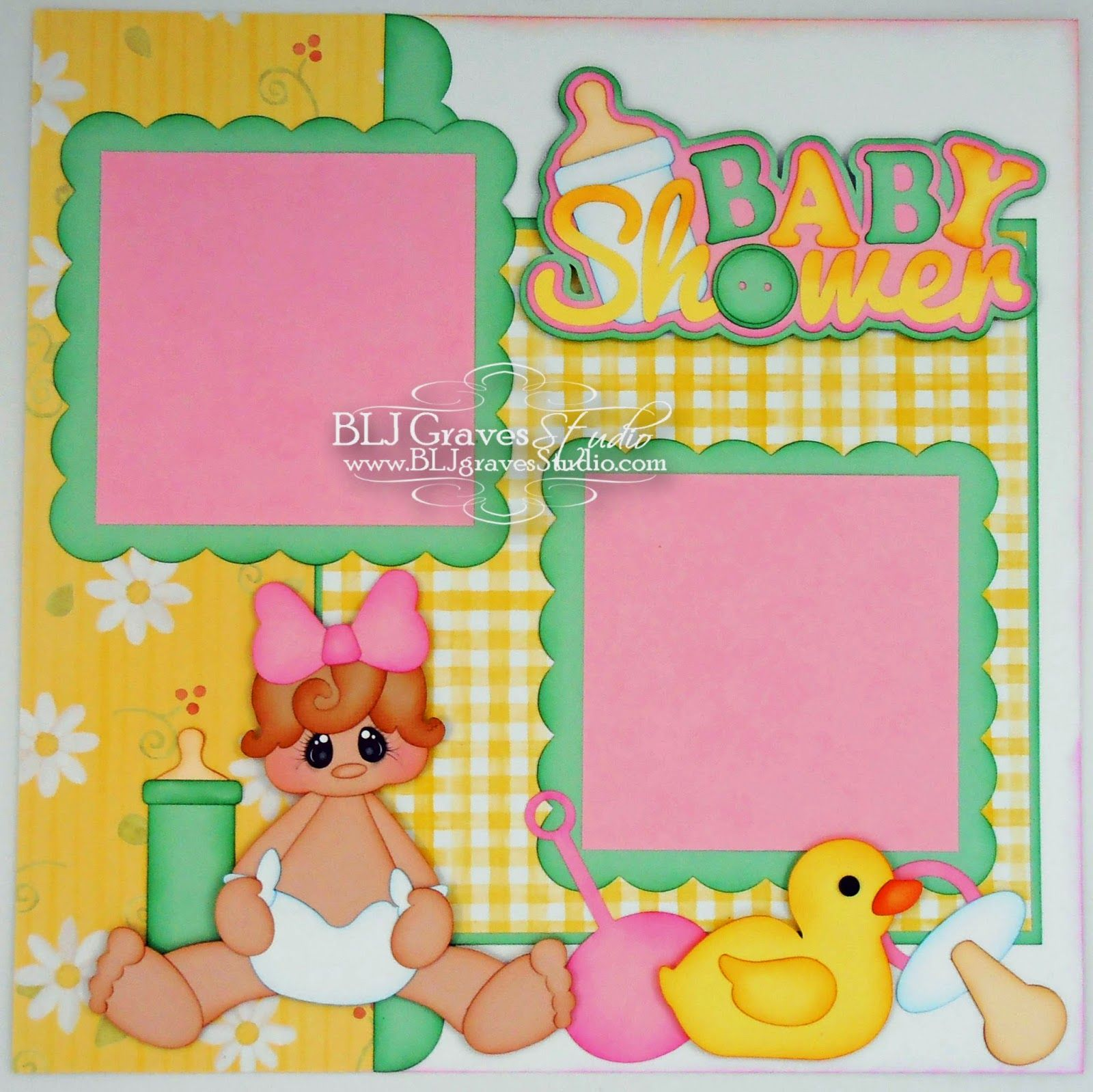 Baby Shower Single Page Layout Blj Graves Studio Layouts