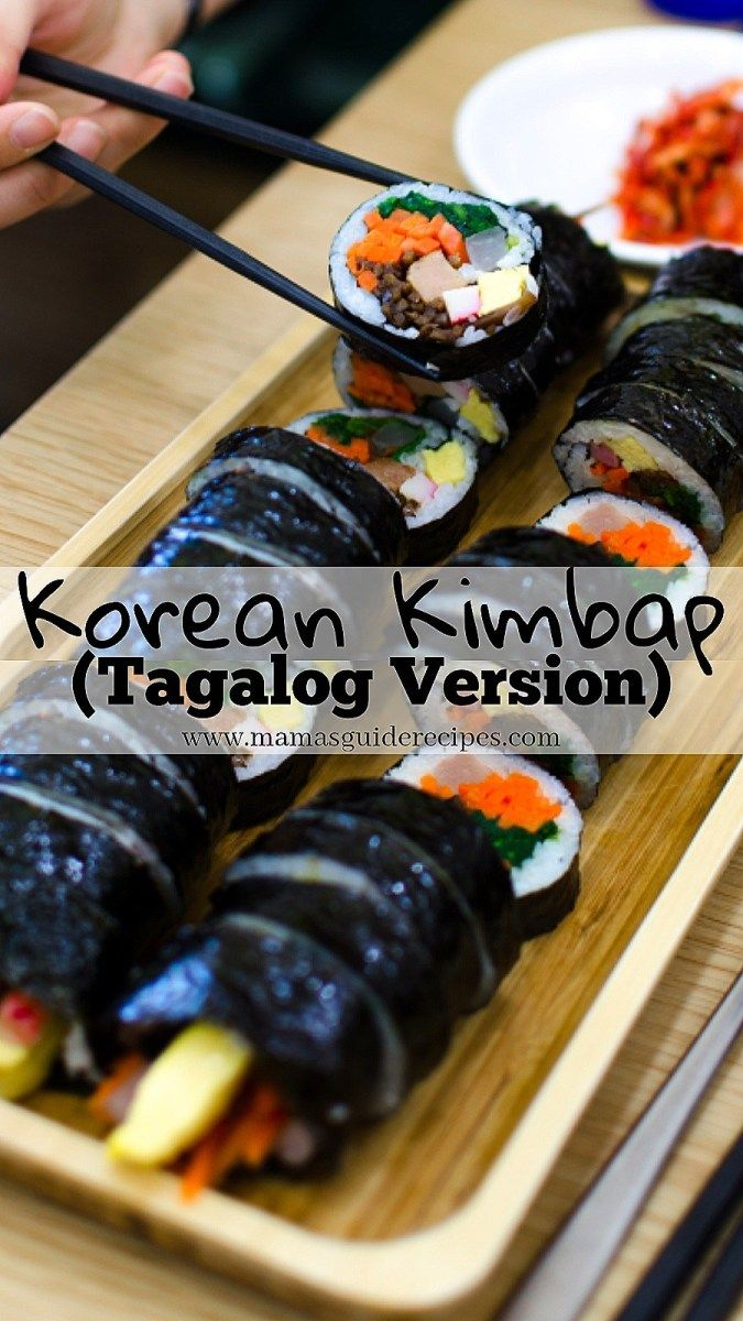 Korean Kimbap (Tagalog Version Korean kimbap, Food, Kimbap