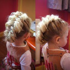 a cute toddler hairstyle  mohawk braid  cute toddler