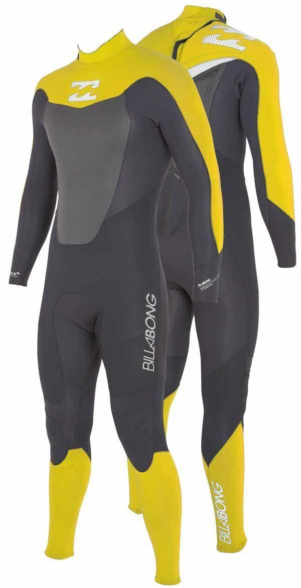 Billabong Junior Foil 5/4/3 Back Zip Winter Wetsuit 2013 - Grey / Yellow