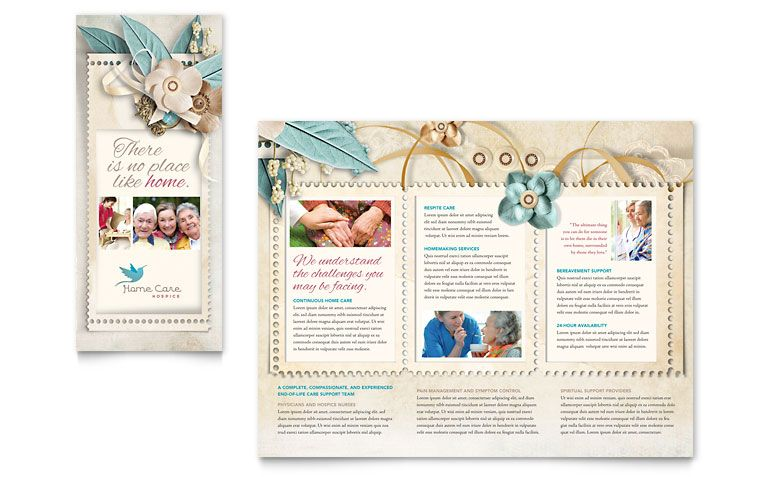 Hospice \ Home Care Tri Fold Brochure Design Oh! The Layouts - free pamphlet templates