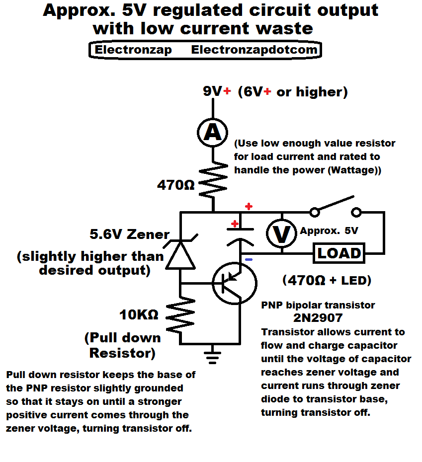 medium resolution of diagram that goes with my voltage regulator circuit versus the l785 voltage regulator component video