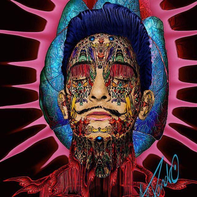 Salvador Dali Orgasmic Cocoon #alexzondroart  #dali  #visionaryart  #psychedelicart