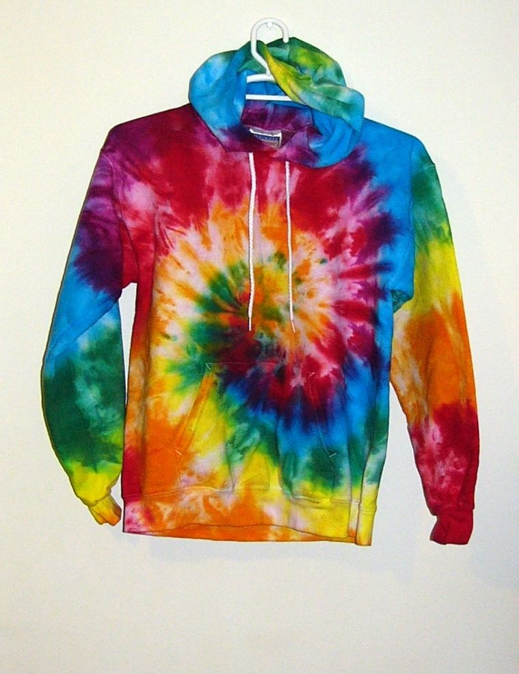Hoodies are always in style why not a tie dye one