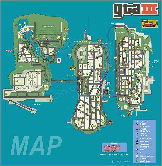 Gta 3 Map Videogiochi