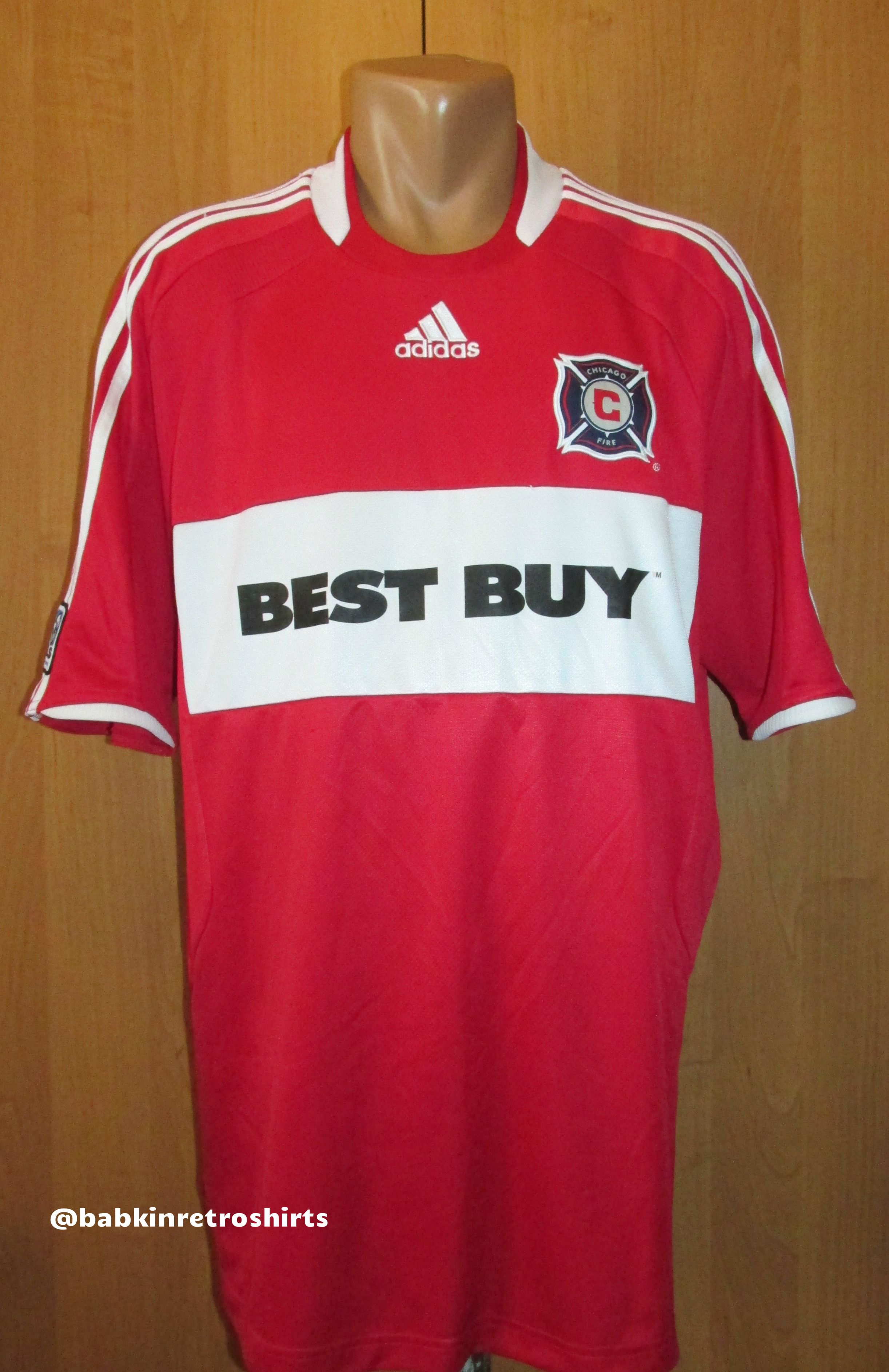 online retailer f7300 394a6 Chicago Fire 2008/2009 home football shirt by Adidas USA ...