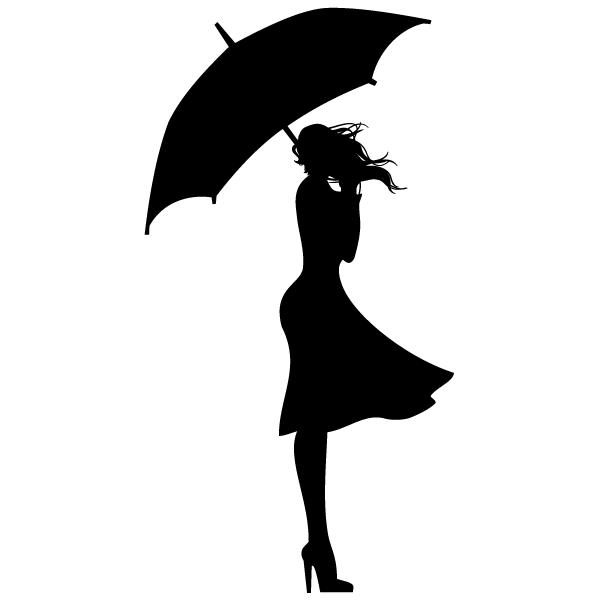 Черно-белые картинки девушка с зонтом