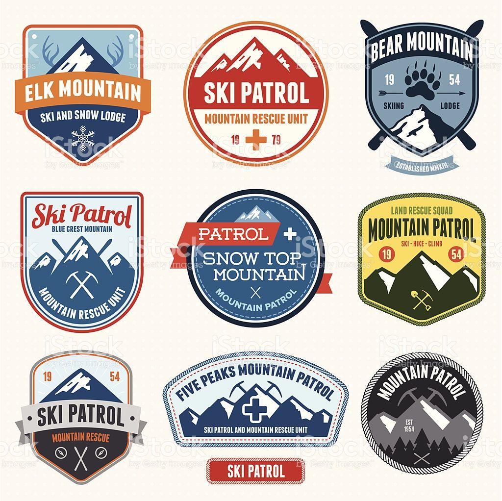 Ski Badges Royalty Free Ski Badges Stock Vector Art More Images Of Skiing Badge Logo Skiing Badge Design
