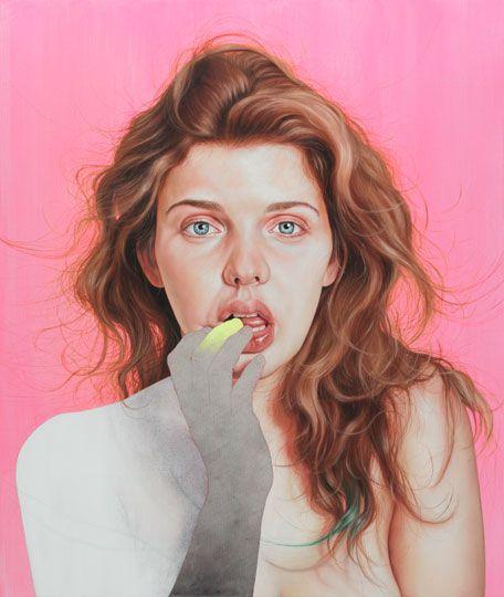 Psychosomatic, oil on canvas, 39.5 x 33.5 in, 2011   Jenny Morgan