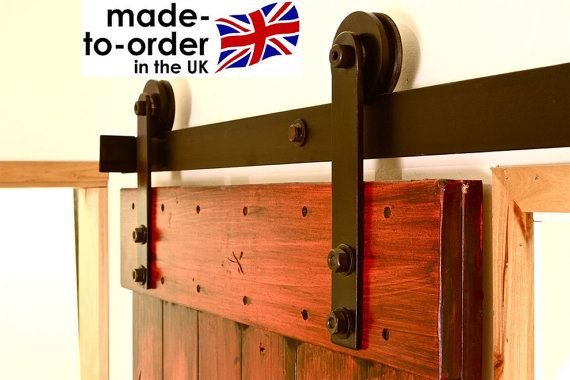 RUSTIC Sliding barn door hardware for wood door DIY kit - Roulette Porte De Placard Coulissante