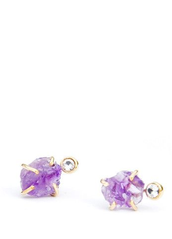 Amethyst & White Sapphire Earrings
