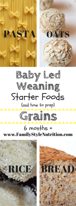 Baby Led Weaning Starter Foods (6months+) - Family Style Nutrition