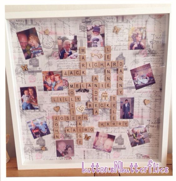 """15 A Frames I D Like To Visit: Large 20"""" X 20"""" Frame Scrabble Frame Personalised To Your"""