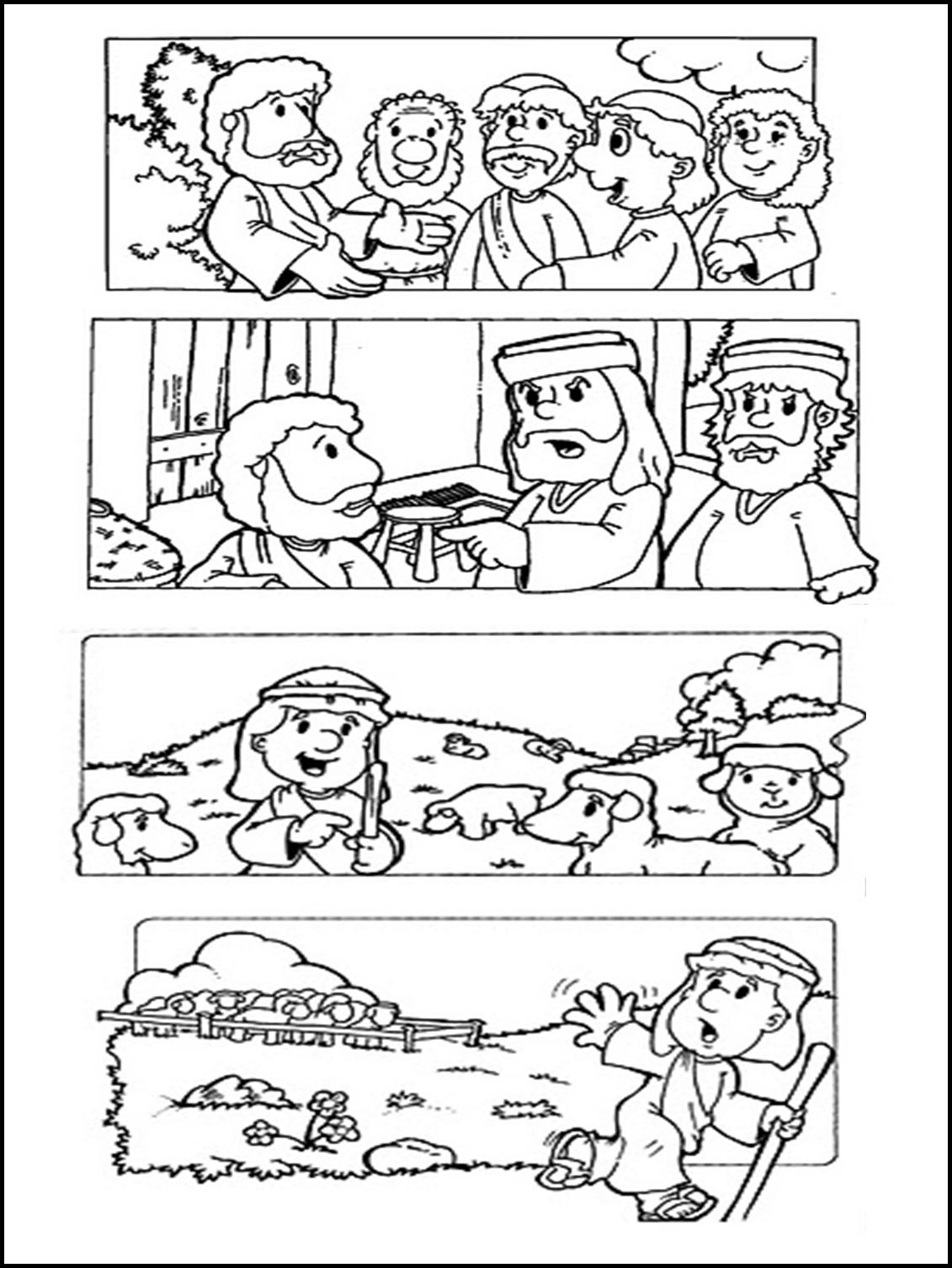 Dibujos Para Colorear De La Parabola De La Oveja Perdida