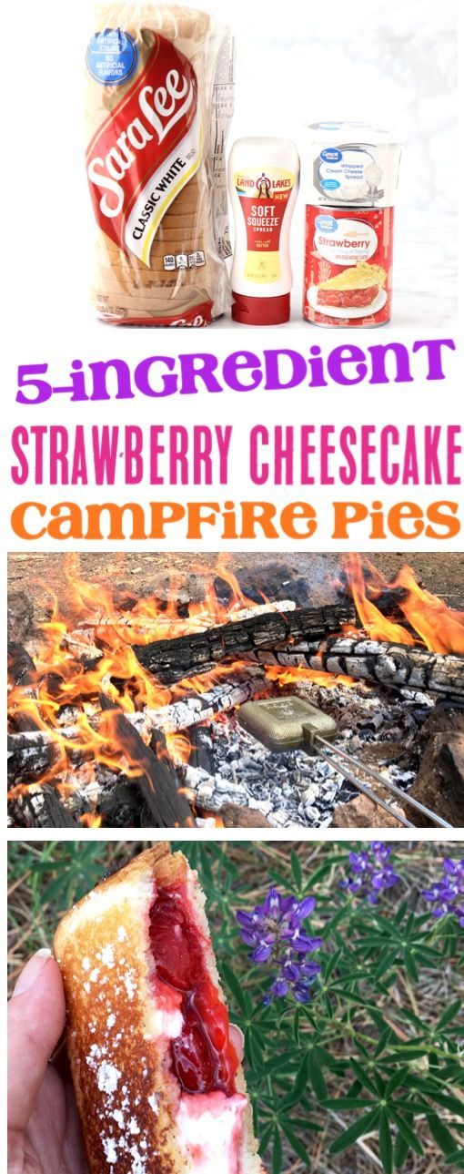 Photo of Camping food ideas! This recipe for strawberry cheesecake bonfire cakes is one …