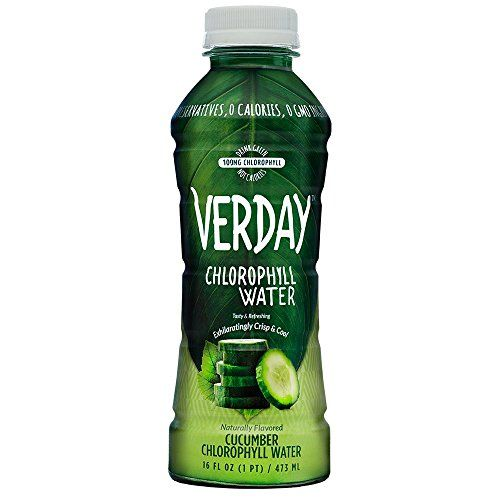 Verday Cucumber Chlorophyll Water - Deliciously refreshing lightly-flavored Verday Chlorophyll Water provides the benefits of Green Juice with zero calories, zero artificial sweeteners and zero preservatives.