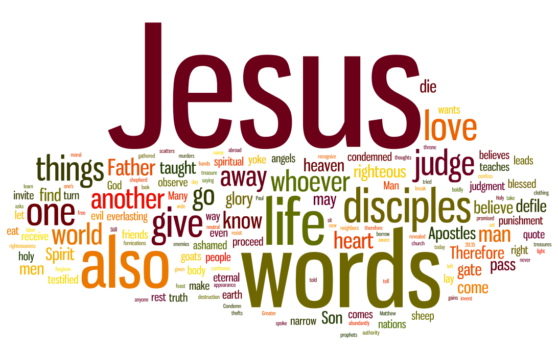 Life In Words The Most Used Words Of Jesus Words Of Life